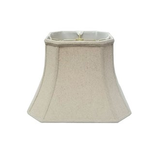Royal Designs Square Cut Corner Bell Lamp Shade, Linen Cream, 10 x 18 x 14.5