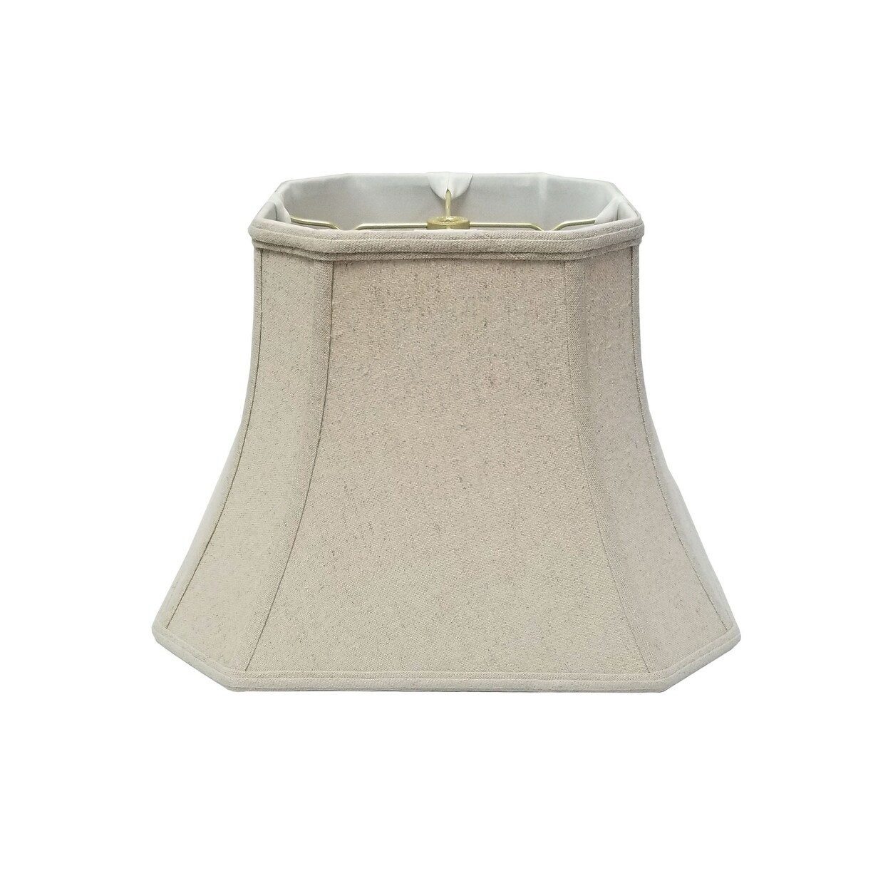 Picture of: Shop Royal Designs Square Cut Corner Bell Linen Cream Lamp Shade 10 X 18 X 14 5 On Sale Overstock 14804883