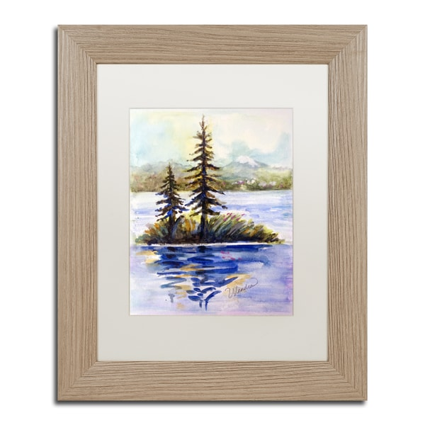 Wendra 'Island Light' Matted Framed Art