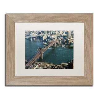 CATeyes 'Brooklyn Bridge' Matted Framed Art