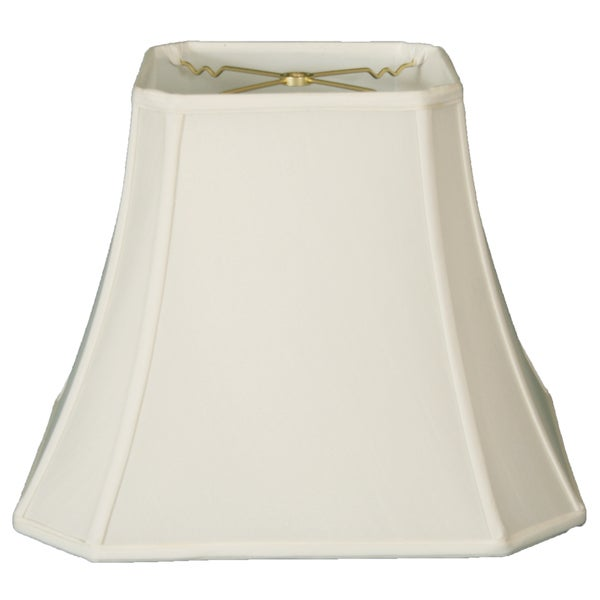 Royal Designs Square Cut Corner Bell Lamp Shade, White, 10 x 18 x 14.5