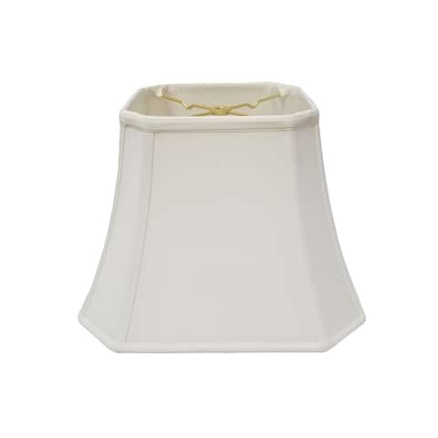Royal Designs Square Cut Corner Bell White Lamp Shade, 10 x 18 x 14.5