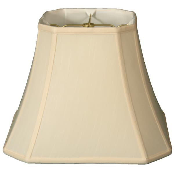 Royal Designs Square Cut Corner Bell Lamp Shade, Eggshell, 10 x 18 x 14.5