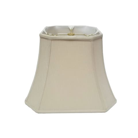 Royal Designs Square Cut Corner Bell Beige Lamp Shade, 10 x 18 x 14.5