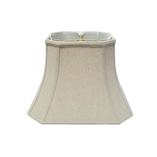 Royal Designs Square Cut Corner Bell Lamp Shade, Linen Cream, 9 x 16 x 13
