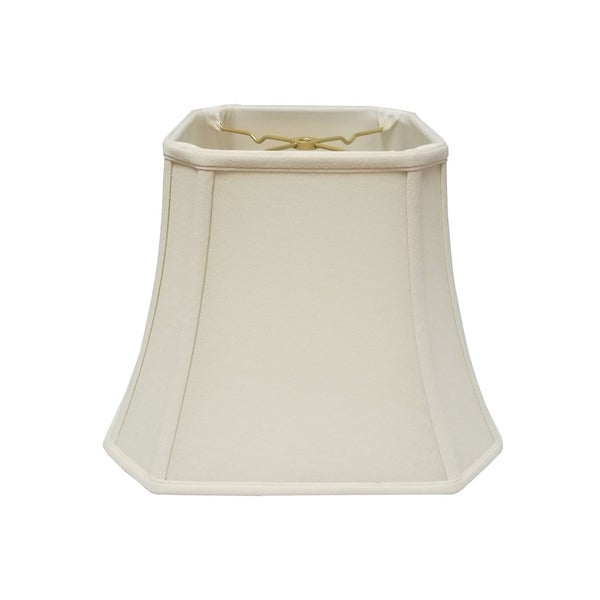 Royal Designs Square Cut Corner Bell Linen Eggshell Lamp Shade, 9 x 16 x 13