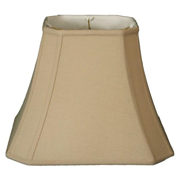 Royal Designs Square Cut Corner Bell Basic Lamp Shade, Linen Beige, 8 x 14 x 11.25