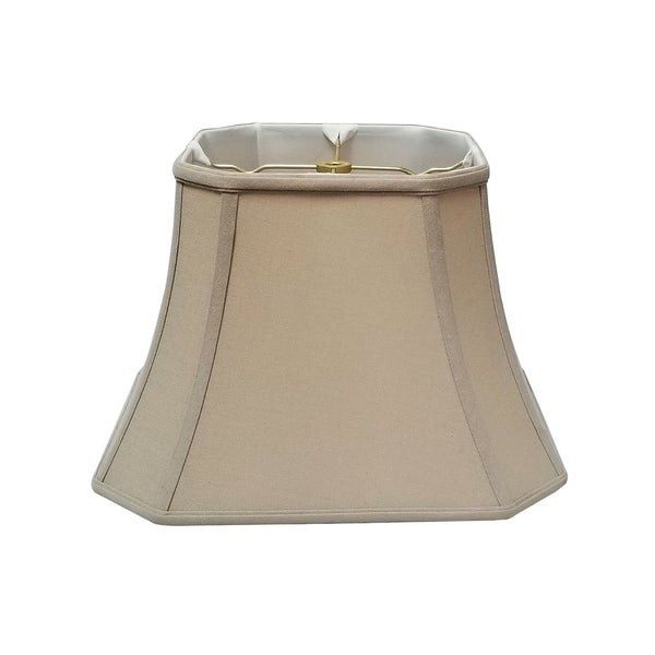 Royal Designs Square Cut Corner Bell Basic Linen Beige Lamp Shade, 8 x 14 x 11.25