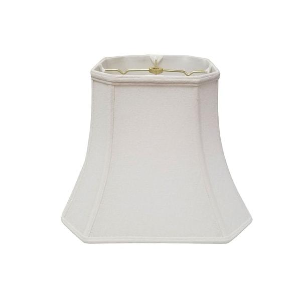 Royal Designs Square Cut Corner Bell Lamp Shade - Linen White - 8 x 14 x 11.25