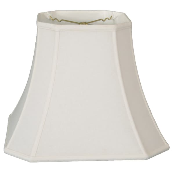 Royal Designs Square Cut Corner Bell Lamp Shade, Linen White, 8 x 14 x 11.25