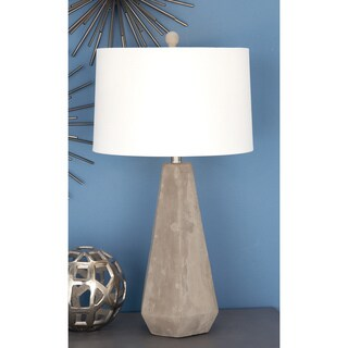 Urban Designs Rustic Couture Collection 28-inch Natural Grey Cement Table Lamp (Set of 2)