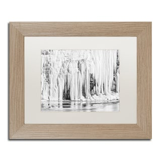 Jason Shaffer 'Mill Hollow Winter' Matted Framed Art