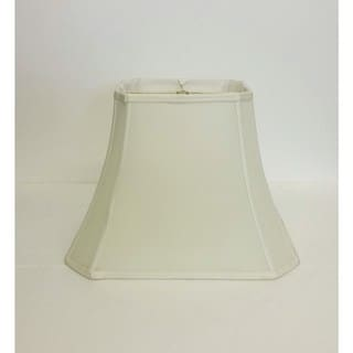 Link to Large Off-White Rectangle Cut-corner Silk Shade Similar Items in Lamp Shades