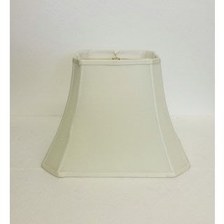 Large Off-White Rectangle Cut-corner Silk Shade