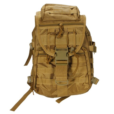 X7 Outdoor Multi-functional Oxford Cloth Tactical Backpack 35L Mud Color