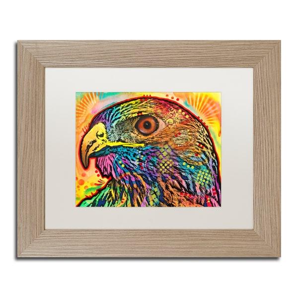 Dean Russo 'Hawk' Matted Framed Art