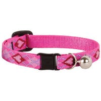 "Lupine Collars & Leads 1/2"" X 8""-12"" Puppy Love Design Safety Cat Collar With Bell"