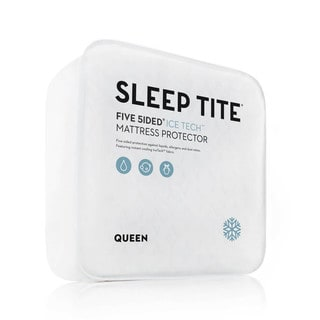 Sleep Tite Five 5ided IceTech Split Cal King Size Mattress Protector (As Is Item)