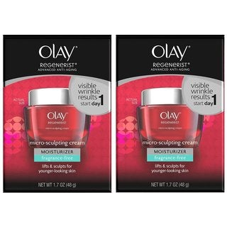 Olay Regenerist Fragrance Free 1.7-ounce Micro-Sculpting Cream Moisturizer (Pack of 2)