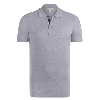 Burberry Men's Short Sleeve Light Grey Polo Shirt