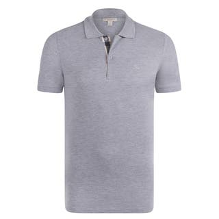 Burberry Men's Short Sleeve Light Grey Polo Shirt|https://ak1.ostkcdn.com/images/products/14805446/P21324075.jpg?impolicy=medium