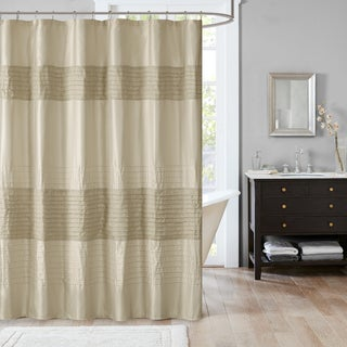 Madison Park Eastridge Metallic Pieced Shower Curtain - 3 Color Option