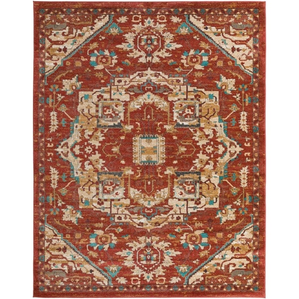 "Colonial Home Vintage Medallion Area Rug - 7'10"" x 10'3"""