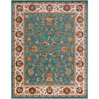 """Colonial Home Traditional Floral Border Area Rug - 7'10"""" x 10'3"""""""