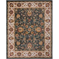 Colonial Home Traditional Floral Border Area Rug (7'10 x 10'3)