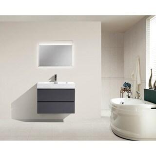Moreno Bath MOF 30 Inch Wall Mounted Modern Bathroom Vanity With Reinforced Acrylic Sink