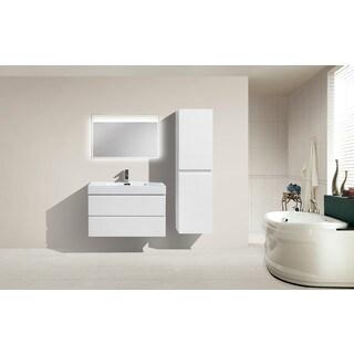 Moreno Bath MOF 36 Inch Wall Mounted Modern Bathroom Vanity With Reinforced Acrylic Sink
