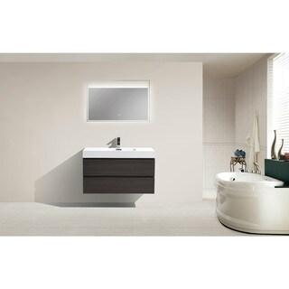 Moreno Wall Mounted Modern Bathroom Vanity With Reinforced Acrylic Sink