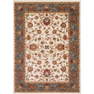 Colonial Home Traditional Floral Border Area Rug (2' x 3')