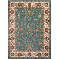 Colonial Home Traditional Floral Border Area Rug - 6'7 x 9'6