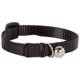 "Lupine Collars & Leads 1/2"" X 8""-12"" Adjustable Black Safety Cat Collar With Bell - 8"" - 12"""