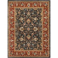 """Colonial Home Traditional Floral Border Area Rug - 5'3"""" x 7'3"""""""