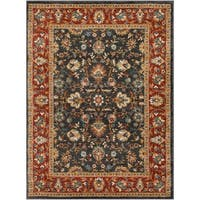 Colonial Home Traditional Floral Border Area Rug (5'3 x 7'3)