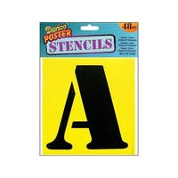 Darice 48-piece Stencil Letters/ Numbers Set