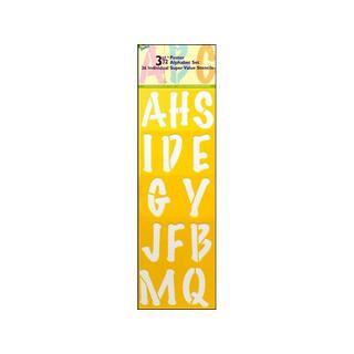Delta Stencil Mania Super Value 3.5-inch Poster Alphabet Stencil Set