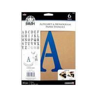 Plaid Folkart Alphabet Serif Paper 6-inch Stencil