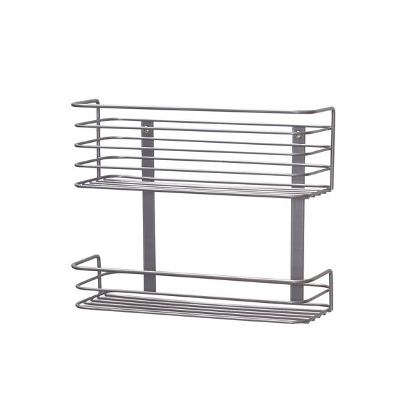Cabinet Door 2-Tier Storage Rack