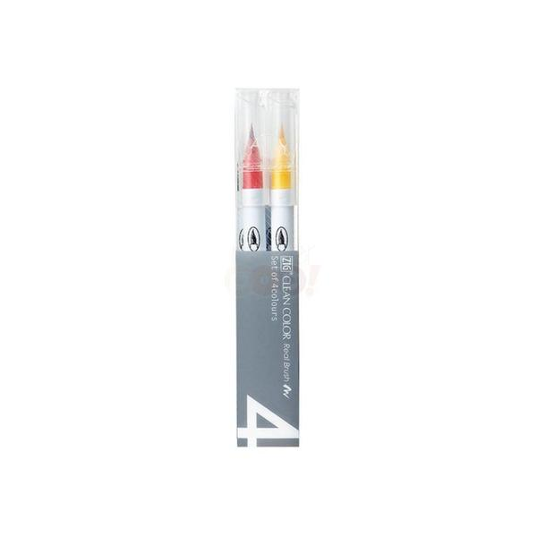 Zig Clean Color Real Brush 4VB Pop Marker Set (Pack of 4)