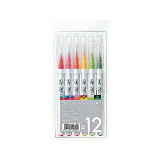 Zig Clean Color 12-piece Real Brush Marker Set