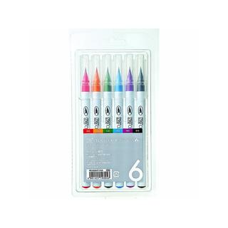 Zig Clean Color 6-piece Real Brush Marker Set