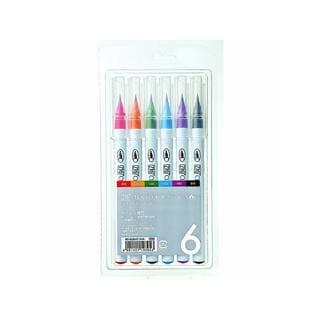 Zig Clean Color 6-piece Real Brush Marker Set