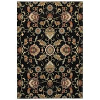 Laurel Creek Wesley Oriental Black/Multicolored Area Rug - 7'10 x 10'10