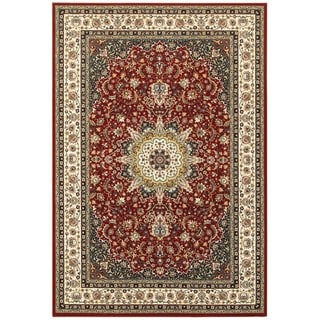 Classic Medallion Red/Ivory Area Rug (7'10 x 10'10)