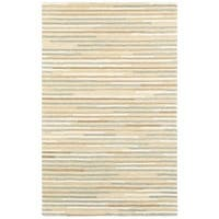 Style Haven Textured Stripes Beige/Grey Wool Handcrafted Area Rug - 8' x 10'