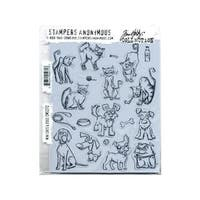 Stampers Anonymous Tholtz Collection Cats and Dogs Mini Cling Stamp