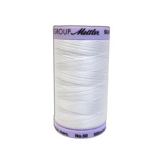Mettler White Silk Finish Cotton #50 547-yard Thread